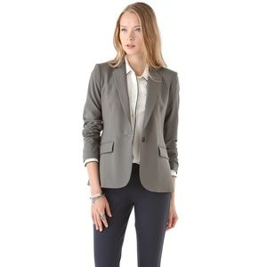Theory Gabrielle Tailor Blazer Wool Single Button